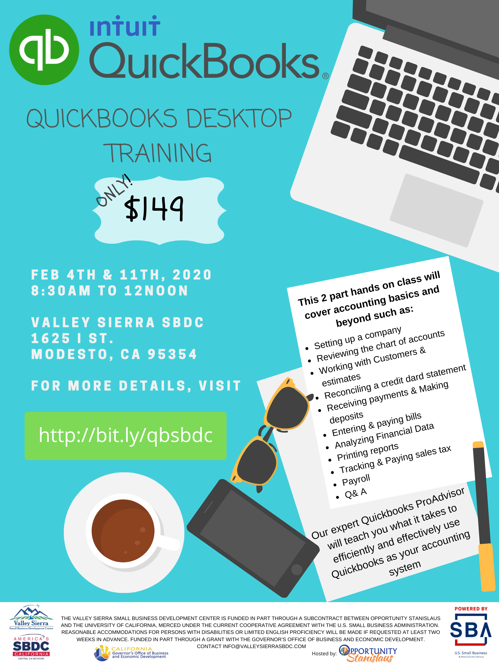 Flier for Quickbooks Desktop Training Class