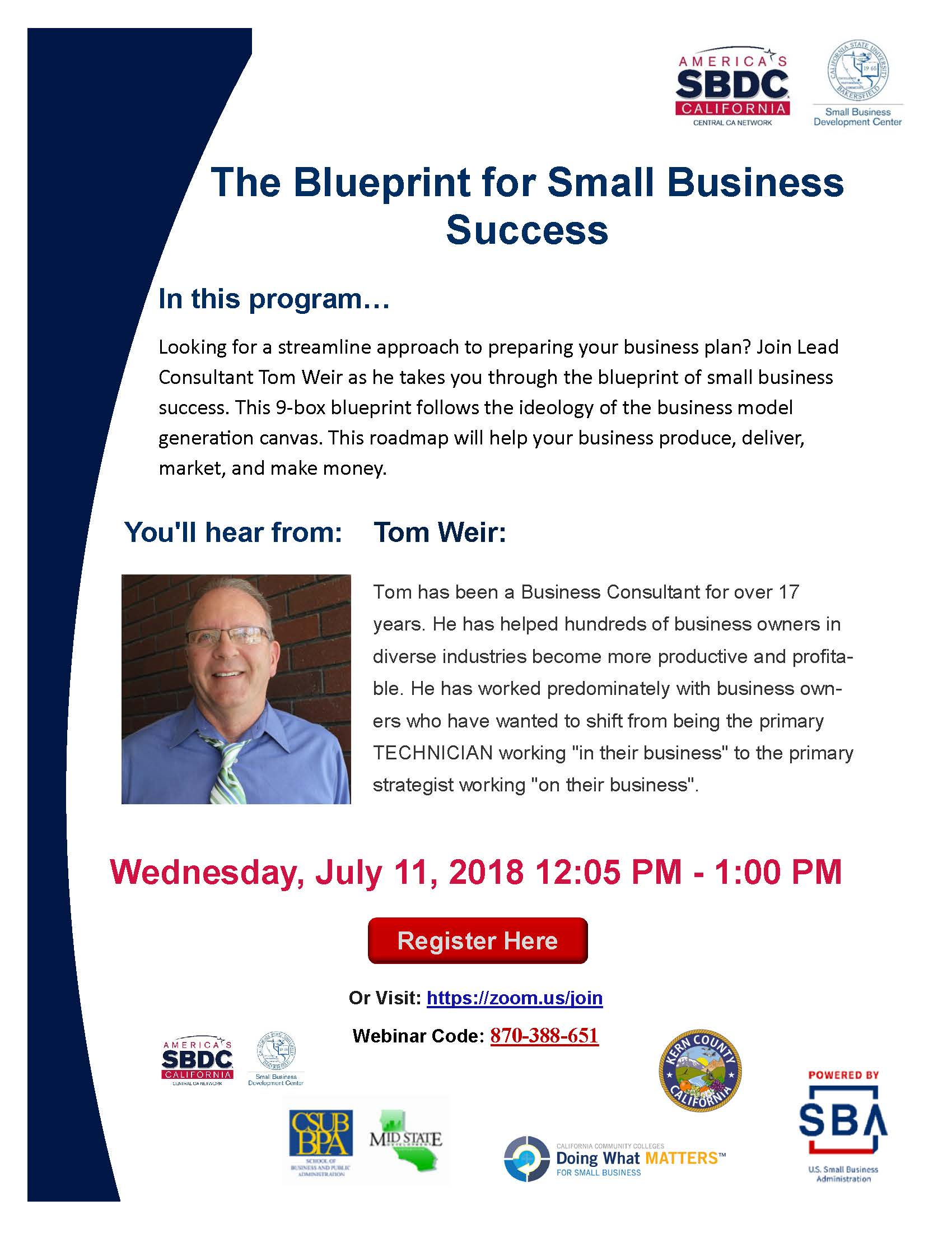 Webinar the blueprint for small business success valley sierra sbdc webinar the blueprint for small business success malvernweather Image collections