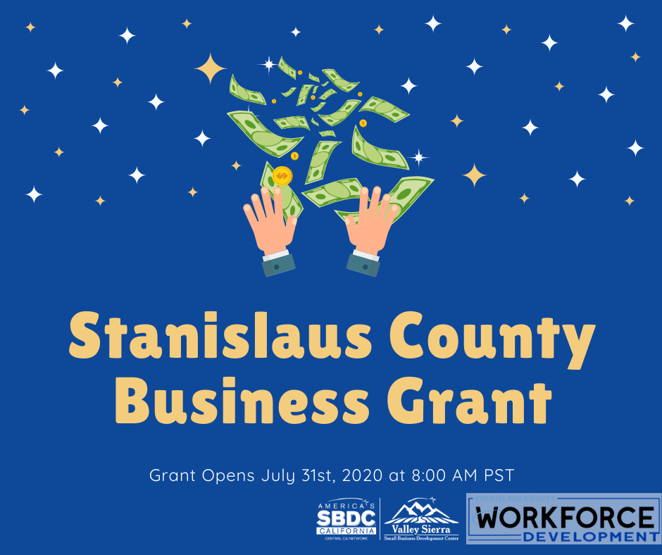 Stanislaus County Business Grant Now Available Flier